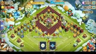 getlinkyoutube.com-Castle Clash - HBM P **4 Heroes** & New TH 20 Setup