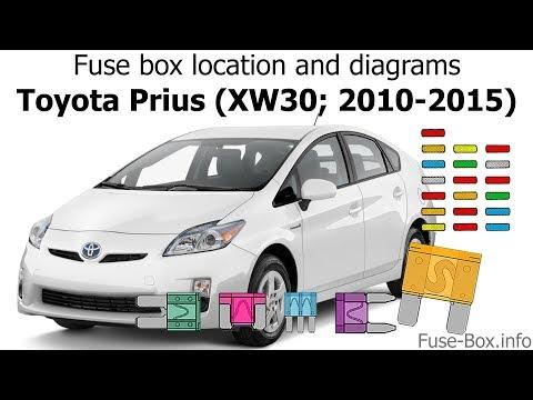 Toyota Prius (XW30; 2010-2015) Fuse box location and diagrams