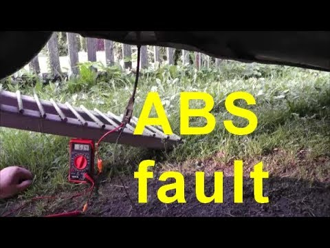 ABS fault Diagnostika Mereni cidla, Peugeot 307 Sw