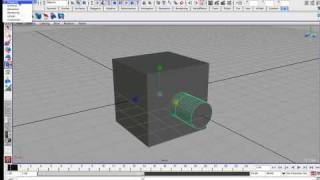 getlinkyoutube.com-Maya: Cutting a hole in an object via the booleans / difference command.