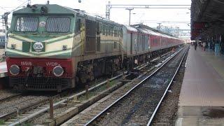 getlinkyoutube.com-Trivandrum Rajdhani in Kerala: Backwaters and High Speed Crossings
