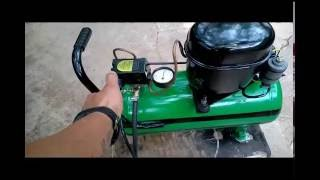 getlinkyoutube.com-Compressor Caseiro De Baixo Custo