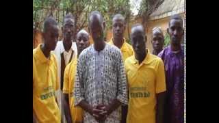 Jeunesse Volontariat Citoyenneté remise de rapport d´activites au parrain Yeah Samake
