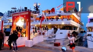 getlinkyoutube.com-EXCLUSIVE F1 party on biggest yacht in Monaco