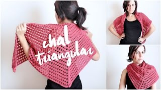 getlinkyoutube.com-Chal triangular tejido a crochet (ENGLISH SUB)   tutorial paso a paso AHUYAMA CROCHET