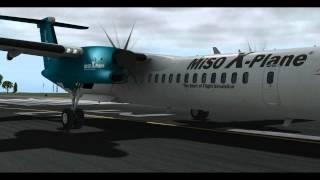 getlinkyoutube.com-MiSO X-Plane Dash 8 Q400 NorwayFly in the Sky