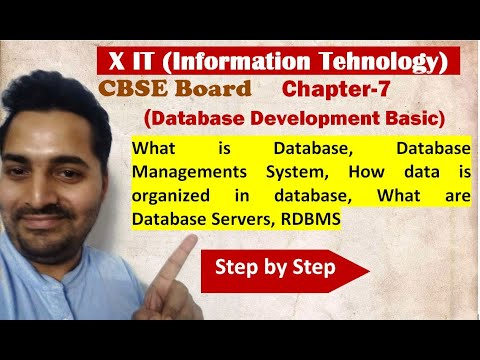 Class X | IT | # 4 | CBSE Board | Ch-7 Database Develoment Basic | Introduction