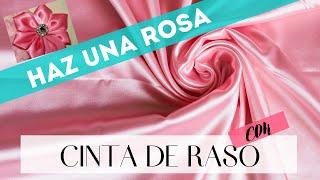 getlinkyoutube.com-Cómo hacer una rosa con cinta de raso