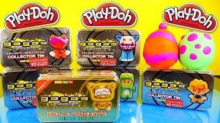 getlinkyoutube.com-GoGos Crazy Bones MEGA UNBOXING Collector's Tins Toy Review Playdough Surprise Eggs Toys