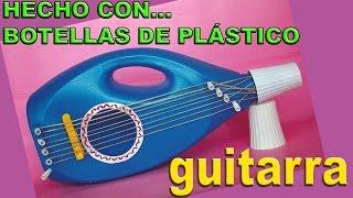 getlinkyoutube.com-Manualidades con Botellas de Plástico - Hacer Juguetes: Guitarra