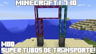 getlinkyoutube.com-Minecraft 1.7.10 MOD SUPER TUBOS DE TRANSPORTE! Tube Transport System Mod Español!