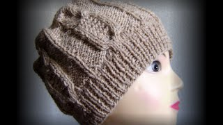 getlinkyoutube.com-ВязанаяШапка с узором 🌳сова🌳 Модная вязаная шапка