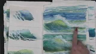 getlinkyoutube.com-Painting Waves in watercolor - Hints and Tips by Susie Short