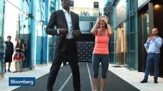 Usain Bolt and Stephanie Ruhle Race: Who's Faster?