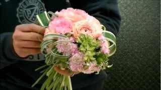 getlinkyoutube.com-雑誌連載フラワーアーティストのウェディングブーケ制作レシピ~How to make wedding bouquet~the arrangement~