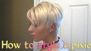 getlinkyoutube.com-Blonde Pixie Hairstyle Tutorial