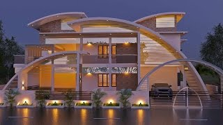 getlinkyoutube.com-Most beautiful Contemporary villa in Beautiful Homes in Jaihind Tv