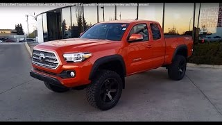 getlinkyoutube.com-2016 Toyota Tacoma Access Cab TRD Off Road with Lift kit Review and Walk around