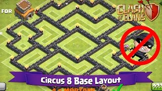 getlinkyoutube.com-Clash Of Clans: TH8 | BEST Farming Base Layout - Circus 8