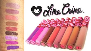 getlinkyoutube.com-NEW LIME CRIME VELVETINES Bleached, Shroom, Faded...