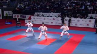 getlinkyoutube.com-European Karate Championships 2015 ITA va. ESP Male team kata Final