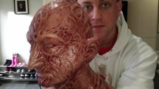 getlinkyoutube.com-Freddy krueger mask unboxing of wfx mask