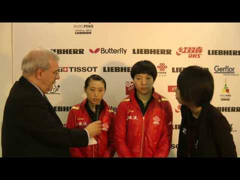 Guo Yue & Li Xiaoxia (CHN) Interview at the 2013 WTTC