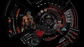 getlinkyoutube.com-Interfaz Hud Iron Man-Skin Rainmeter