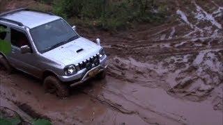 getlinkyoutube.com-ジムニー 泥泥泥沼を走りなさい(笑)  I run on the muddy road