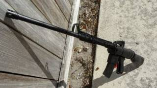 getlinkyoutube.com-Shooting my Homemade M16 Airsoft Rifle