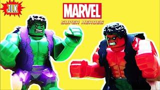 getlinkyoutube.com-ของเล่น เลโก้ จีน Lego Hulk and Red Hulk knock off