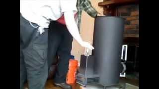 getlinkyoutube.com-Liberator Prototype Rocket Heater Wood Stove