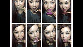getlinkyoutube.com-LA Splash Lip Couture Liquid Lipstick Review & Swatches !