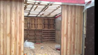 getlinkyoutube.com-DIY building a big storage s Shed or Cabin with Free Recycled Pallets!