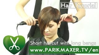 getlinkyoutube.com-Short haircut with long bangs parikmaxer tv english version