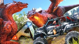 getlinkyoutube.com-Ark Survival Evolved - Dune Buggy, DRAGON vs DRAGON, Funny Moments Gameplay