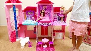 getlinkyoutube.com-Barbie Malibu House / バービー人形のおおきなおうち