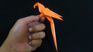 getlinkyoutube.com-Cara Membuat Origami Burung Macaw Parrot | Origami Binatang