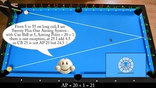 getlinkyoutube.com-23 Kick Shots Frozen Rail Cue Ball Drill #2 with Aiming System - Pool & Billiard training lesson