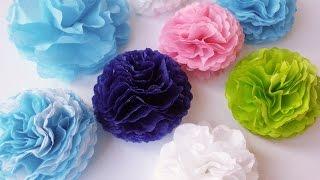 getlinkyoutube.com-Tutorial: Mini Pompon in carta velina - Tissue paper Mini pompons