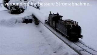 getlinkyoutube.com-Schneeräumung auf der Gartenbahn