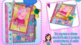 getlinkyoutube.com-Libreta y puntera de Peppa Pig en Fomi- Goma Eva- Microporoso - Taller Virtual taty Arts
