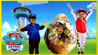 getlinkyoutube.com-PAW PATROL TOYS Nickelodeon GIANT EGG SURPRISE OPENING Power Wheels Kids Video