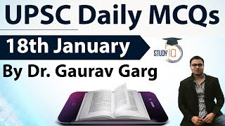 UPSC Daily MCQs on Current Affairs - 18th January 2018 -  for UPSC CSE/ IAS Preparation Prelims