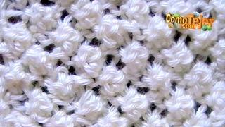 getlinkyoutube.com-Cómo Tejer Punto Garbanzo Popcorn Stitch 2 Agujas (12)
