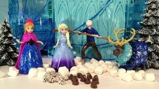 getlinkyoutube.com-FROZEN MOVIE PARODY Elsa and Jack Frost from Rise of the Guardians Movie make Candy for Disney Olaf