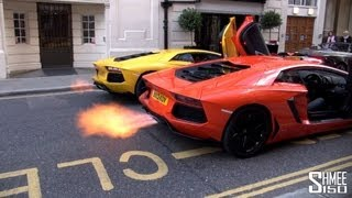 getlinkyoutube.com-DUAL FLAMETHROWER - Epic Aventador Rev Battle
