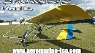 getlinkyoutube.com-Zigolo MG12 motorized ultralight motor glider sailplane from AeroMarine LSA.