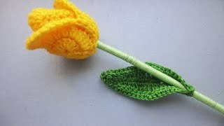 getlinkyoutube.com-ТЮЛЬПАН TULIP Crochet