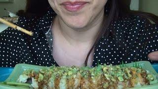 getlinkyoutube.com-ASMR: Wasabi Crunch Sushi   Lemon Mousse   Eating Sounds